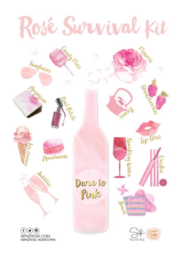 Dare to Pink Rose Survival Kit